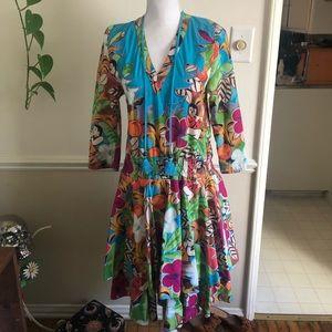 Vintage Hawaiian Dress Sz Sm